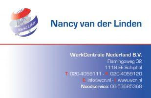 Visitekaartje Nancy van der Linden